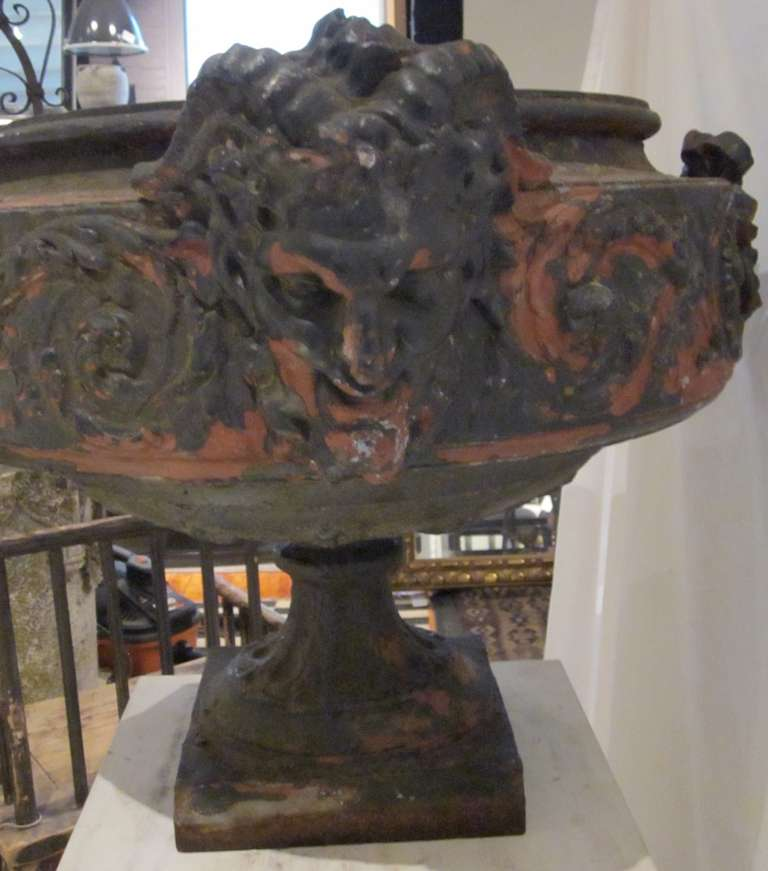 19th Century Weathered Bronze Urn, France For Sale 4