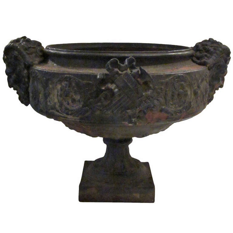 19th Century Weathered Bronze Urn, France