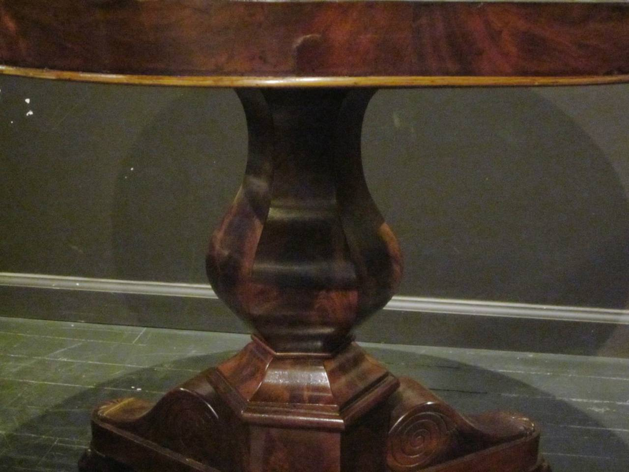 French Steel-Top Antique Gueridon, France, 19th Century For Sale