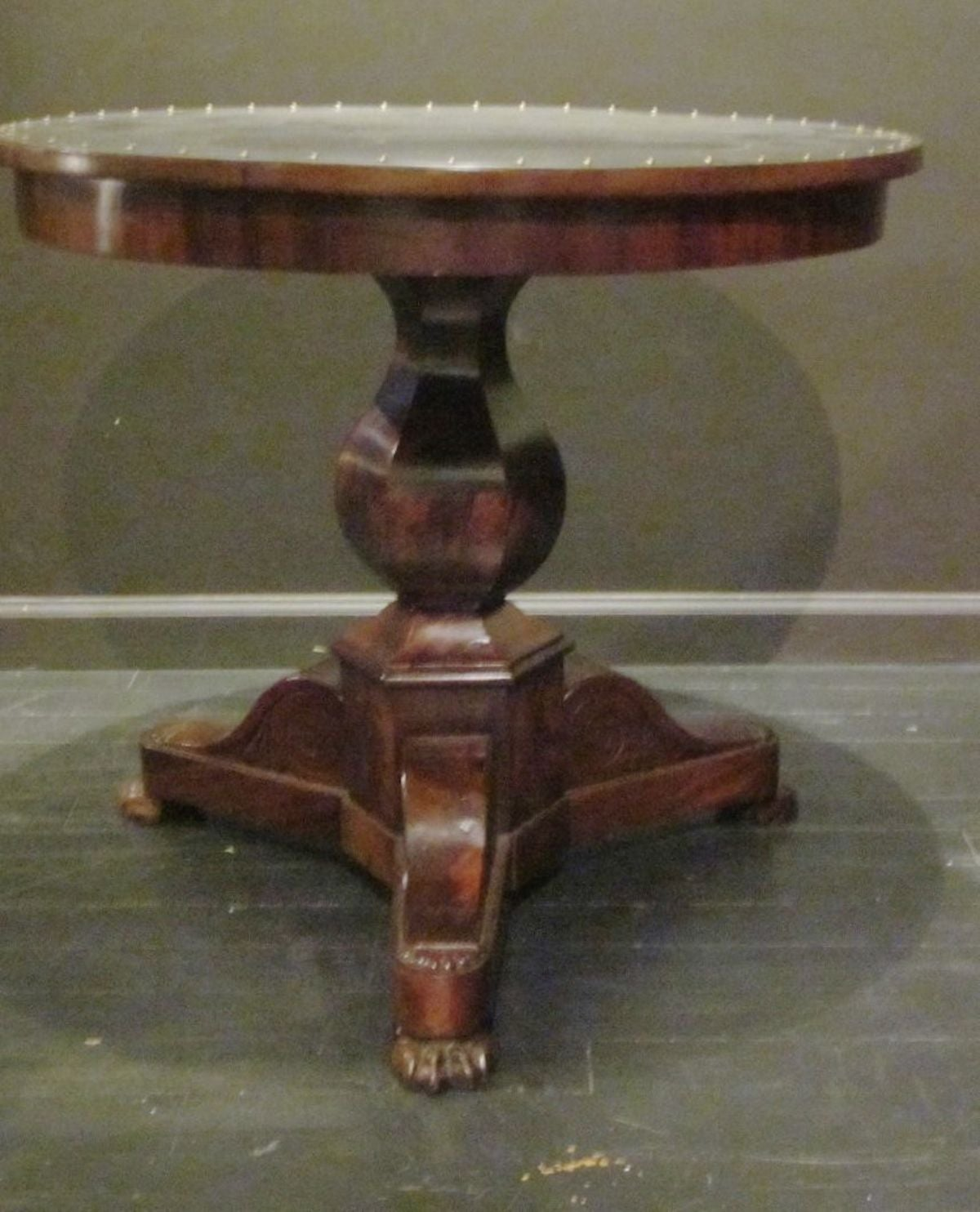 Mahogany Steel-Top Antique Gueridon, France, 19th Century For Sale