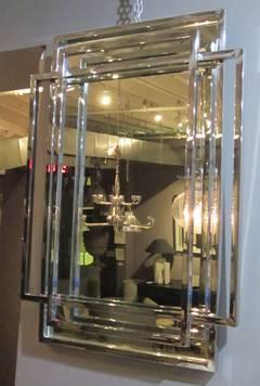 Contemporary Trellis Mirror