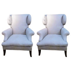 Pair Of 19c Wing Chairs