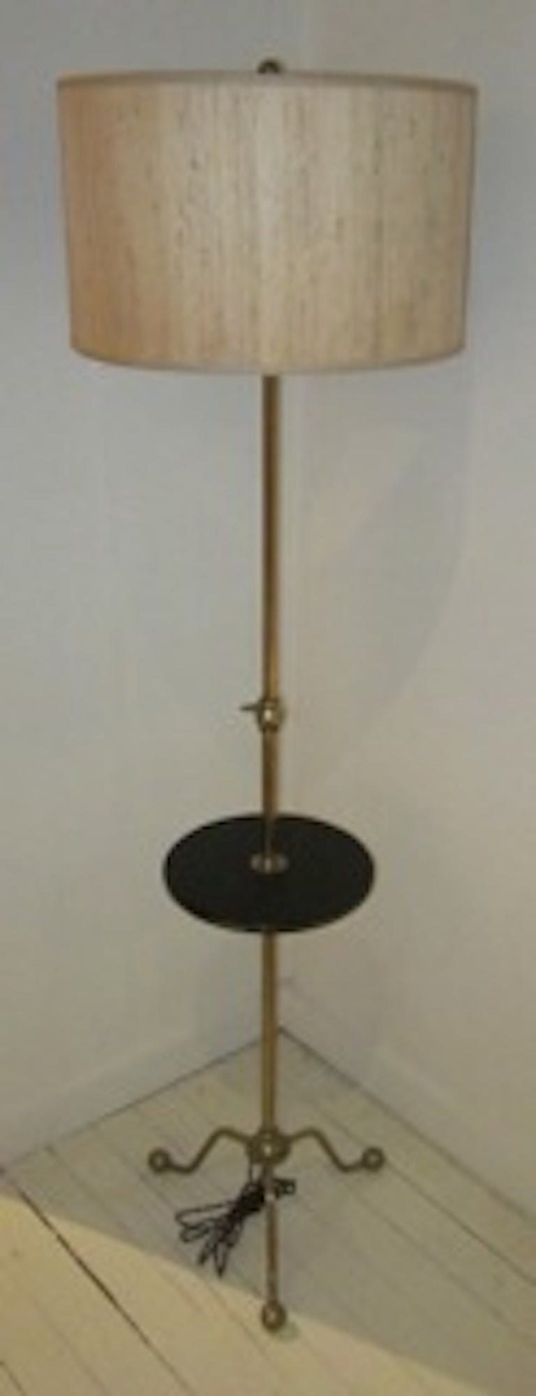 1940 S French Brass Floor Lamp At 1stdibs