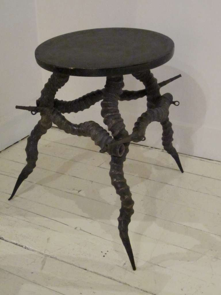19th C French Antler Cocktail Table At 1stdibs