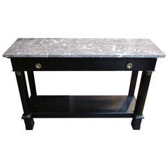 19th Century Directoire Ebonized Console Table, France