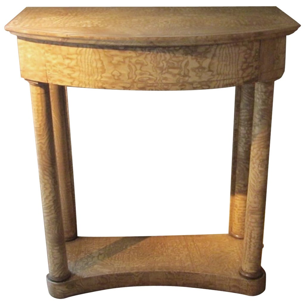 Ash Wood Table ~ Hungarian ash wood console table mid th century at stdibs