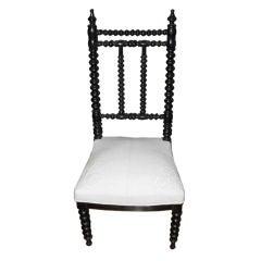 19thC French Napoleon Spool Leg Chair