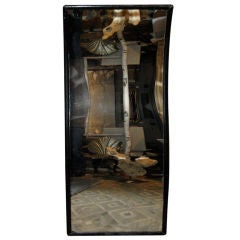 1950's Black French Concave Mirror
