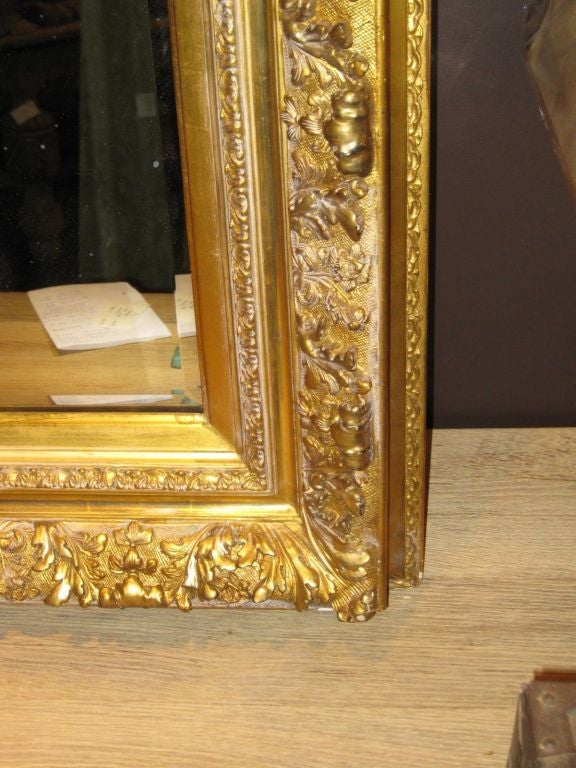 19thc Large Gold Guild Framed Mirror At 1stdibs