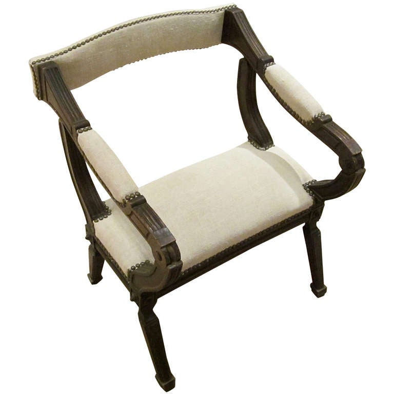 19thC French Prayer Chair At 1stdibs