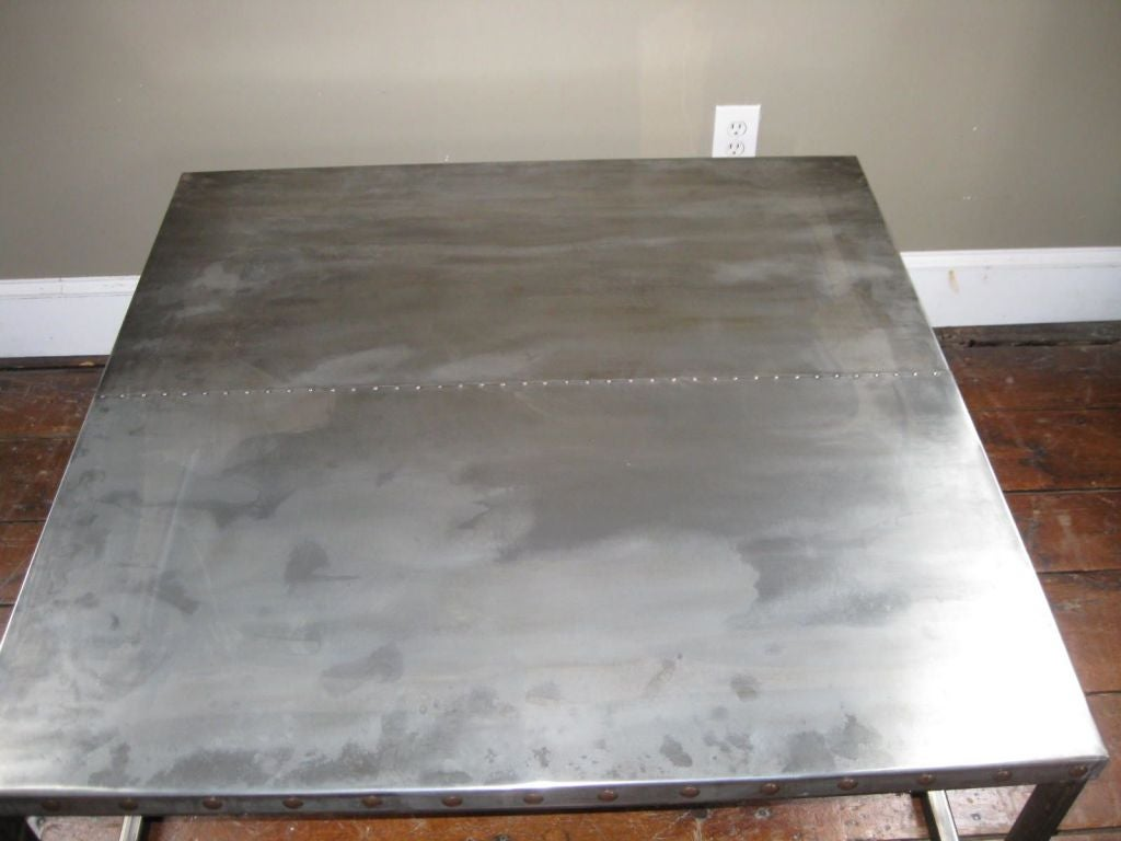 industrial zinc top coffee table at 1stdibs