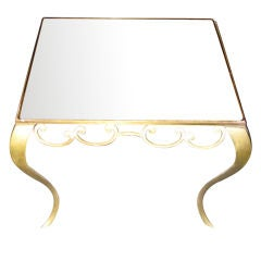 1940s Coffee or Side Table with a Mirror Top, France