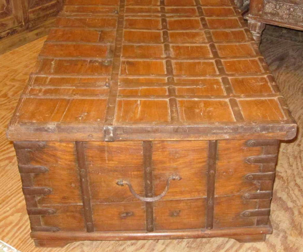 19thc Indian Trunk Coffee Table At 1stdibs