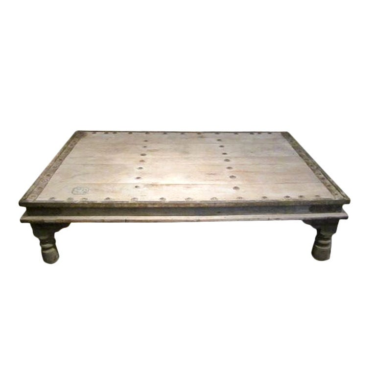 19thc indian bed coffee table at 1stdibs for Indian coffee table