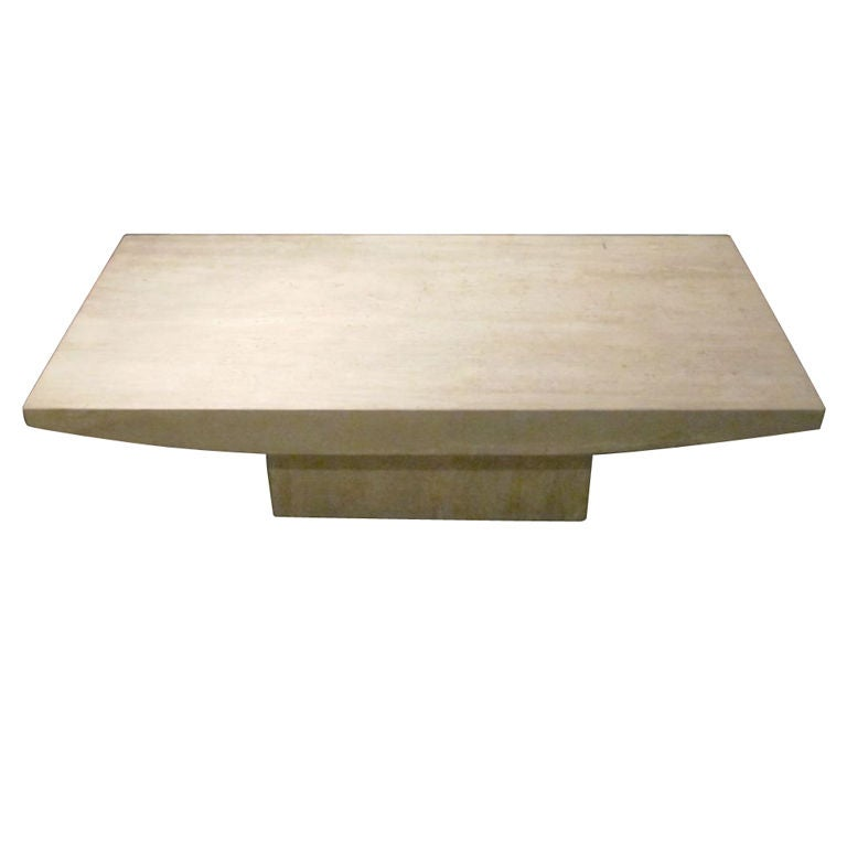 Solid Travertine Coffee Table: Italian Travertine Coffee Table At 1stdibs