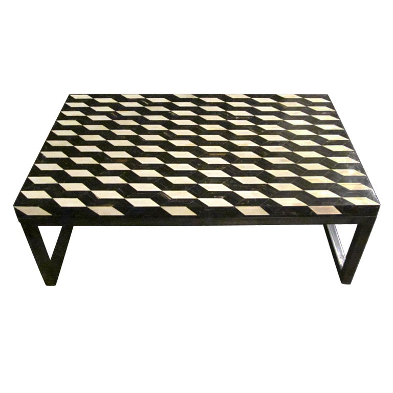Faux Bone Coffee Table At 1stdibs