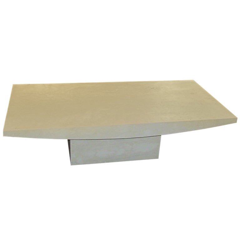 Italian Travertine Rectangular Coffee Table, Contemporary