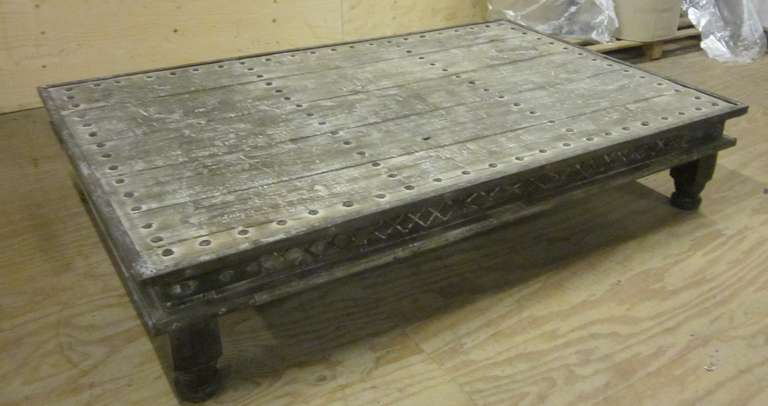 Indian Bed Coffee Table In Excellent Condition For Sale In New York,