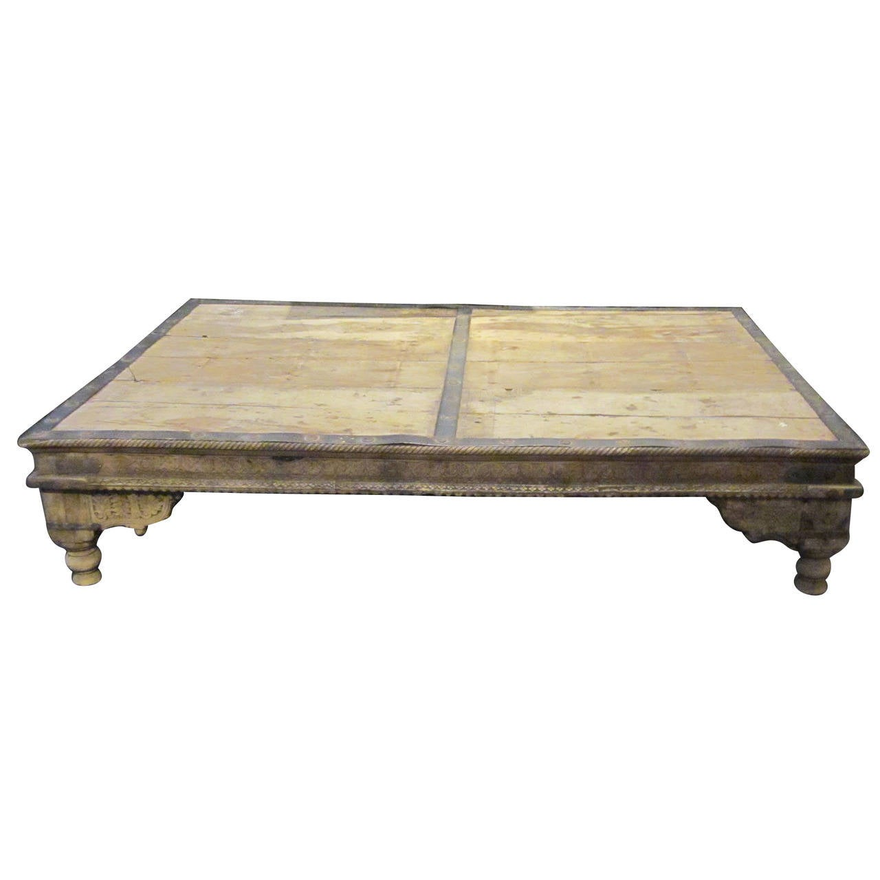 19th Century Wood And Iron Coffee Table India At 1stdibs