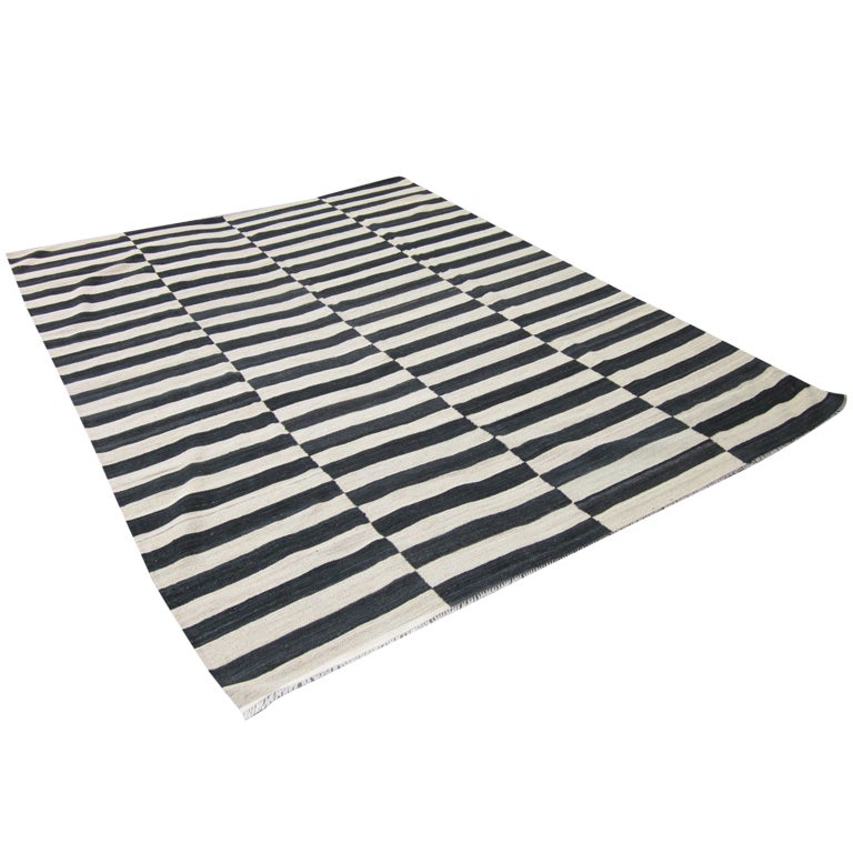 Striped Kilim Rug For
