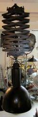 1940's Belgian Industrial Scissor Extending Pair of  Lights