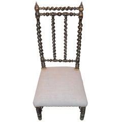 French Napoleon III Prayer Chair
