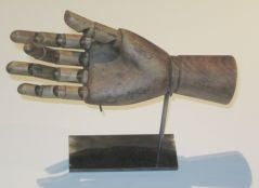Large Horizontal Articulated Hand Sculpture