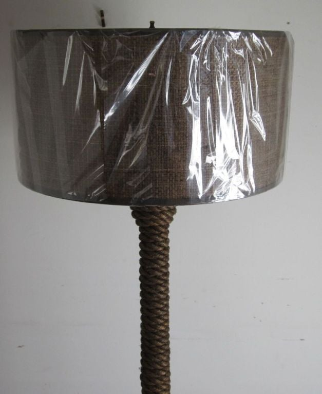 Vintage rope floor lamp at 1stdibs for Floor lamp with rope stand