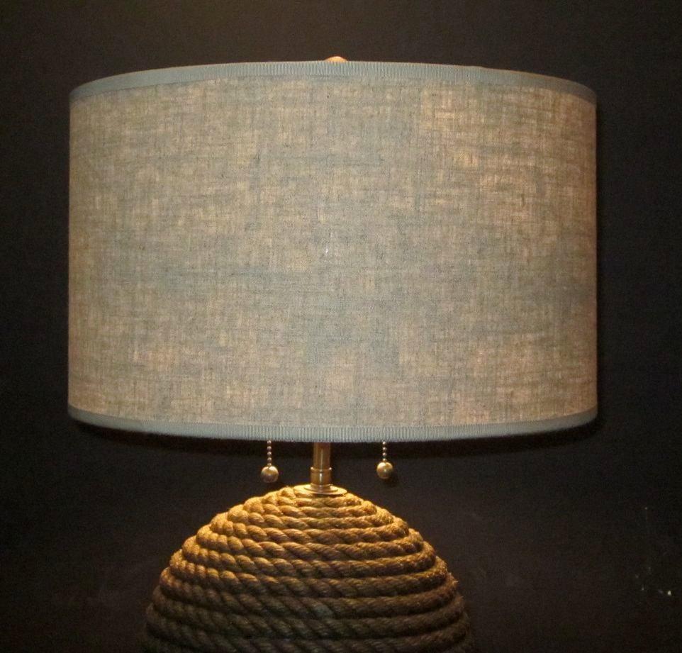 pair vintage rope lamps at 1stdibs. Black Bedroom Furniture Sets. Home Design Ideas