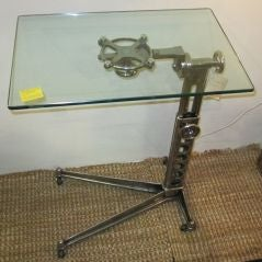 1940's French Adjustable Side Table