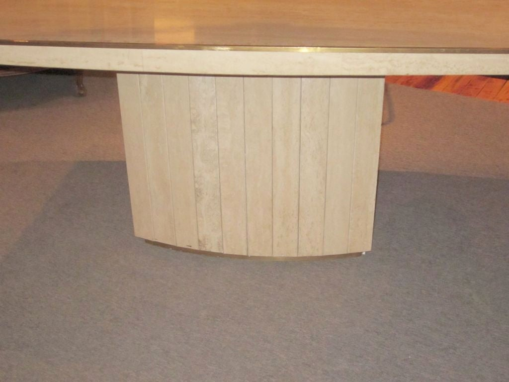 Willy rizzo travertine table at 1stdibs for Table willy rizzo