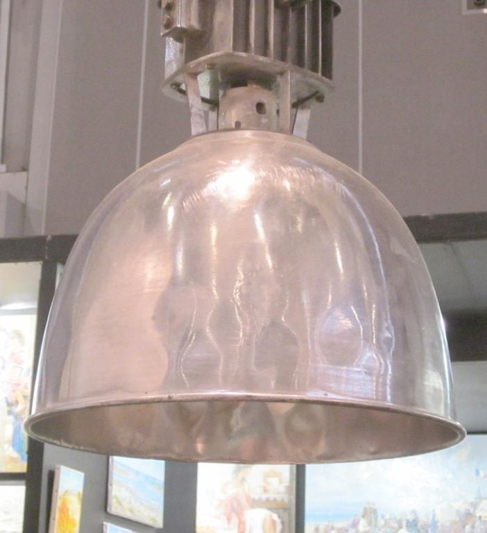 1940s Pair of Industrial Light Fixtures, France In Good Condition For Sale In New York, NY