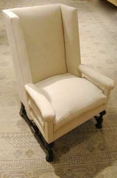 Pair of 19thC English Wing Chairs