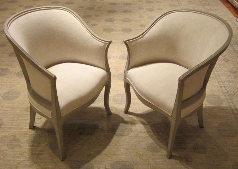 pair of french 1940 s chairs at 1stdibs Upholstered Occasional Chairs Modern Occasional Chairs