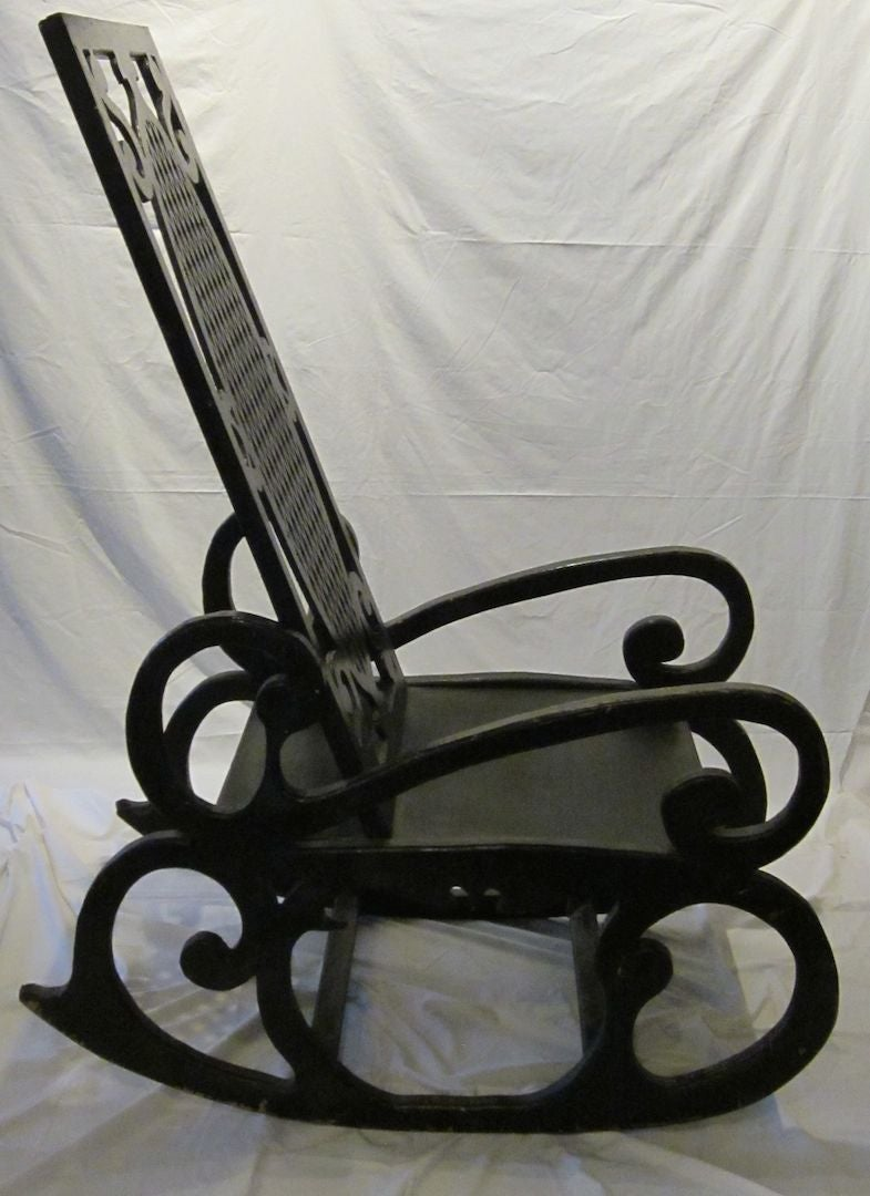 Oversized Rocking Chair, France, 1920s For Sale at 1stdibs