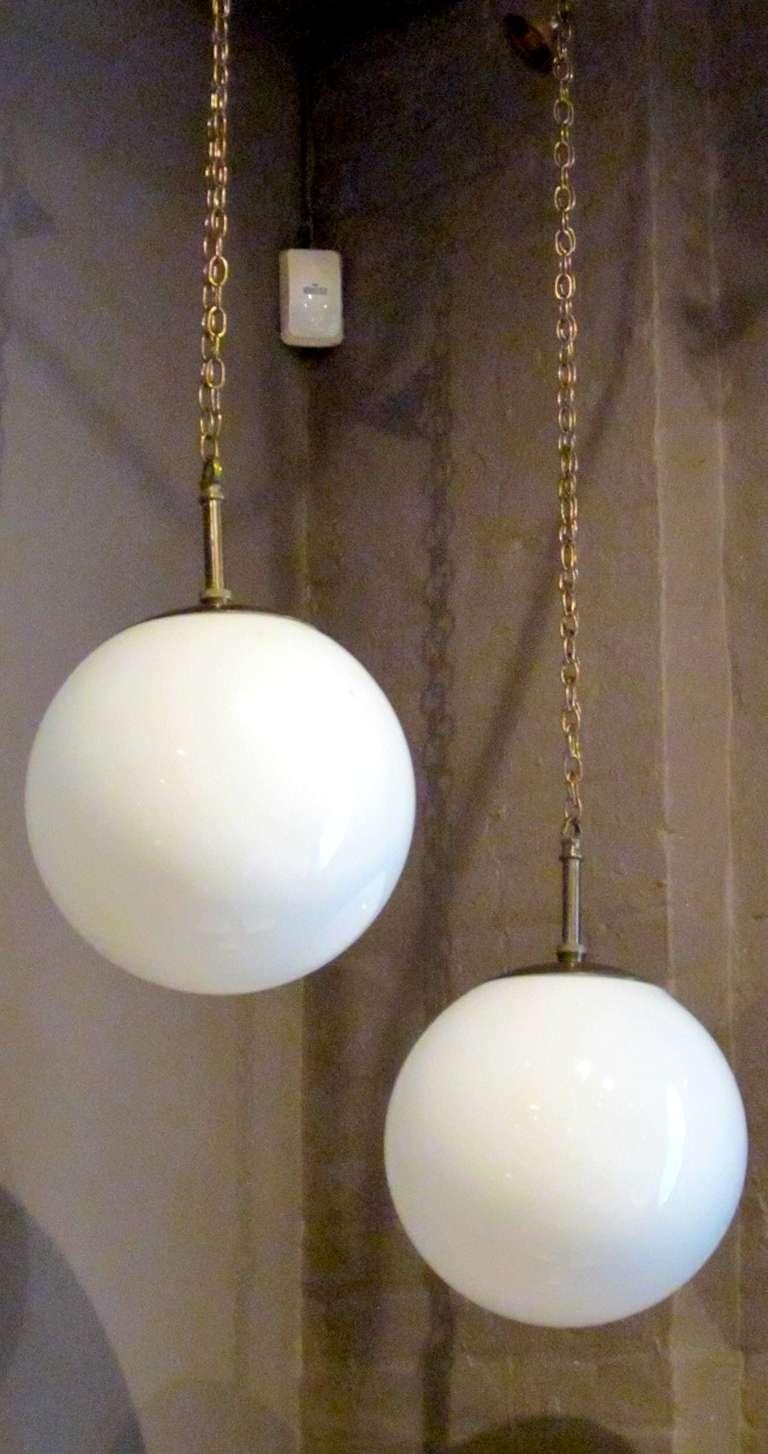 Pair Of English 1930s Pendant Light Fixtures At 1stdibs