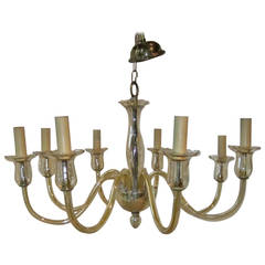 1940s Murano Glass Eight-Arm Chandelier, Italy