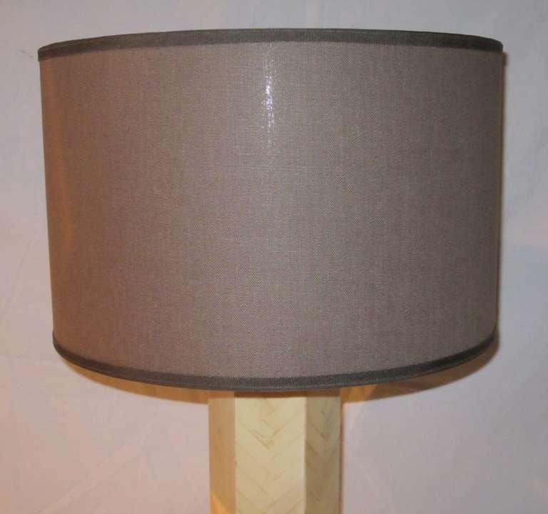 Late 20th Century 1970s Italian Faux Bone Table Lamp For Sale