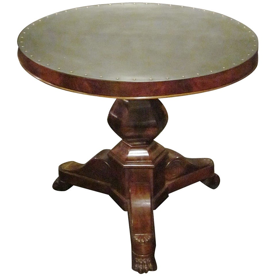 Steel-Top Antique Gueridon, France, 19th Century For Sale