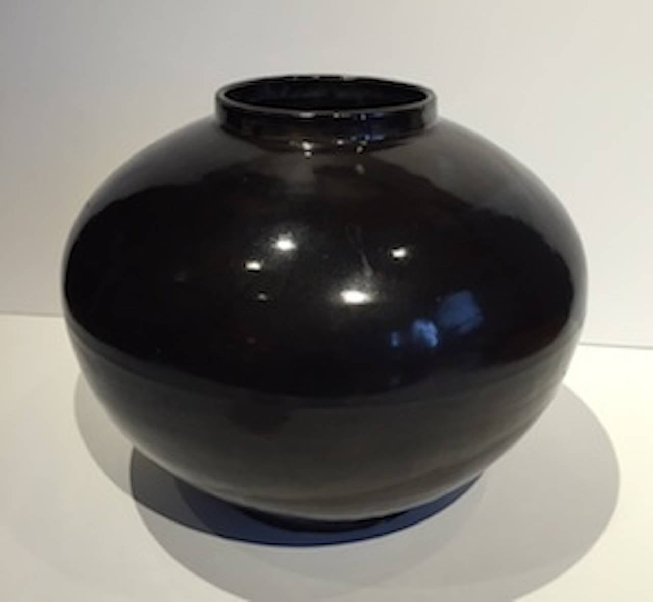 Collection of Extra Large High Gloss Black Vases, China, Contemporary For Sale 1