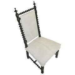 19thc French Napoleon III Prayer Chair