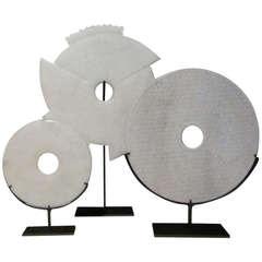Set Of Three Chinese Discs