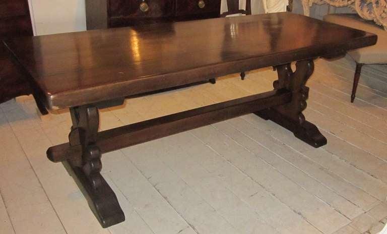 English Trestle Leg Farm Table at 1stdibs : F1811l from www.1stdibs.com size 768 x 464 jpeg 30kB