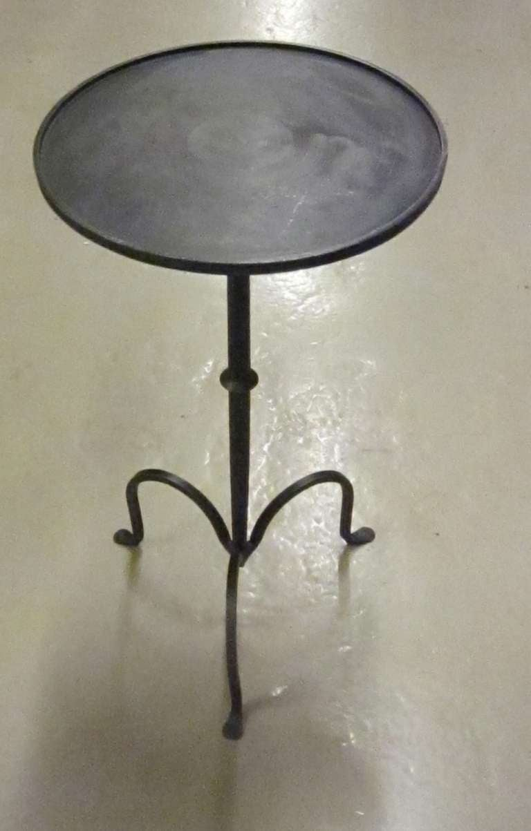 Contemporary Steel Small Side Cocktail Table At 1stdibs
