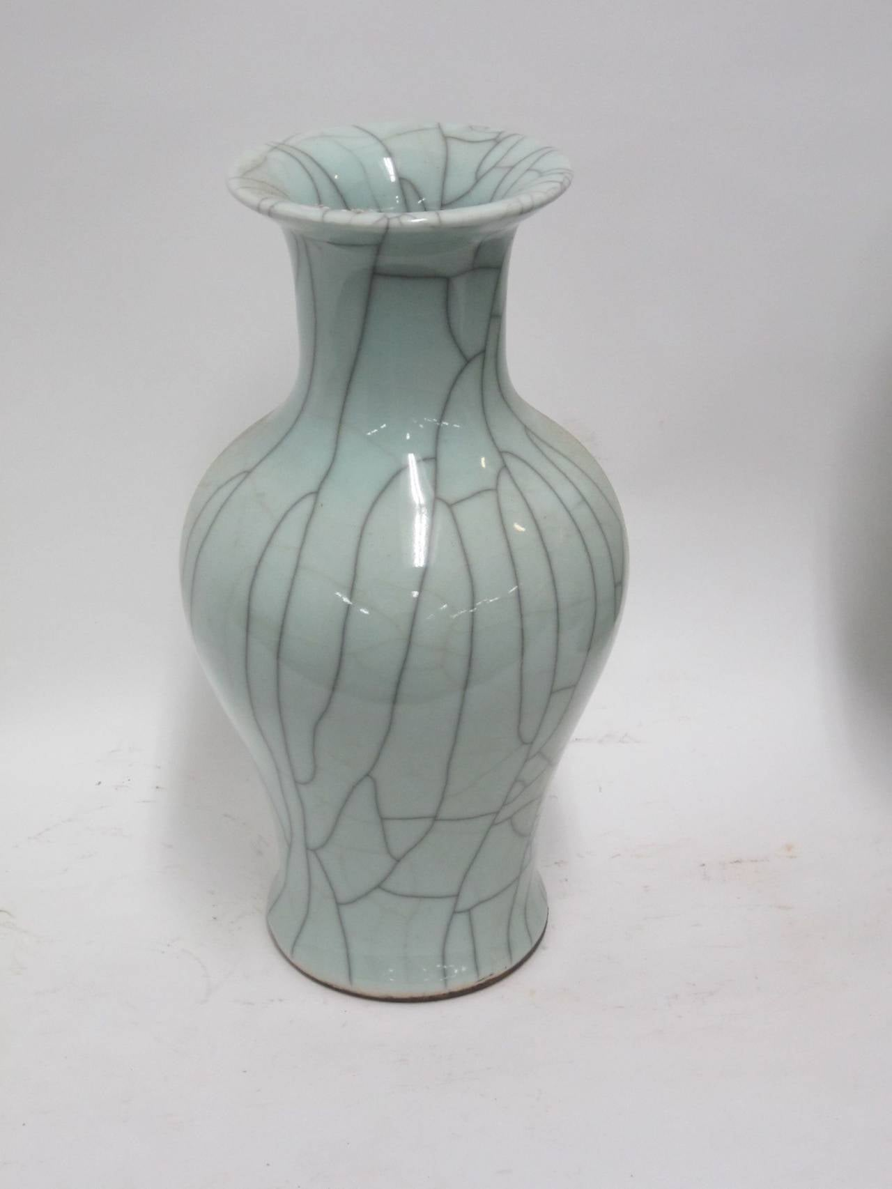 Collection of Pale Blue Crackle Vases, China, Contemporary For Sale 2