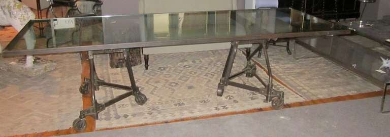 Industrial Dining Table on Wheels at 1stdibs : T130copyl from www.1stdibs.com size 768 x 271 jpeg 28kB