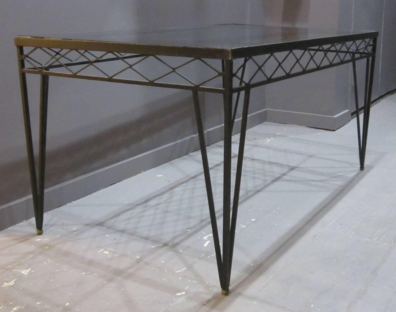 c0044f74c343 Circa 1940s Wrought Iron Rectangular Dining Table