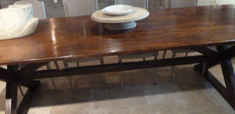 English oak wood wide plank dining table circa late 18th for Dining room table 32 wide