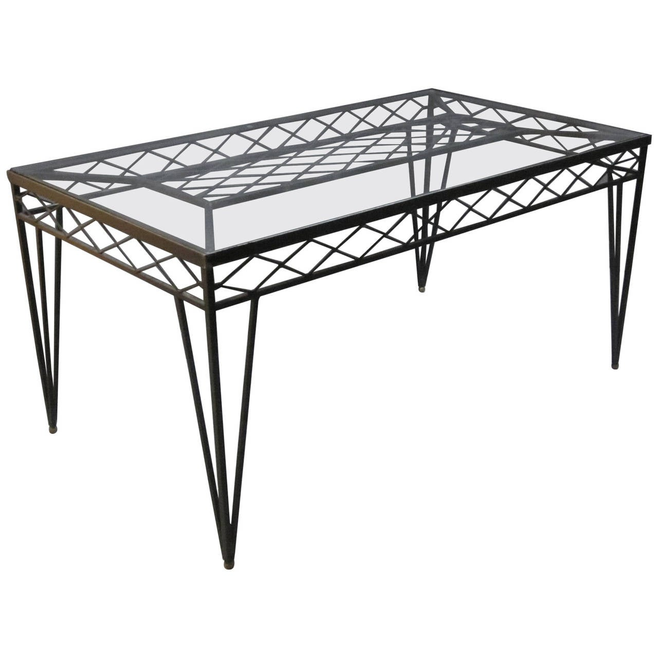 Circa 1940s Wrought Iron Rectangular Dining Table France For Sale At 1stdibs