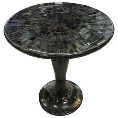 Faux Horn Small Cocktail Table, Contemporary